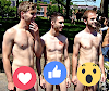 Hombres calientes desnudos al aire libre