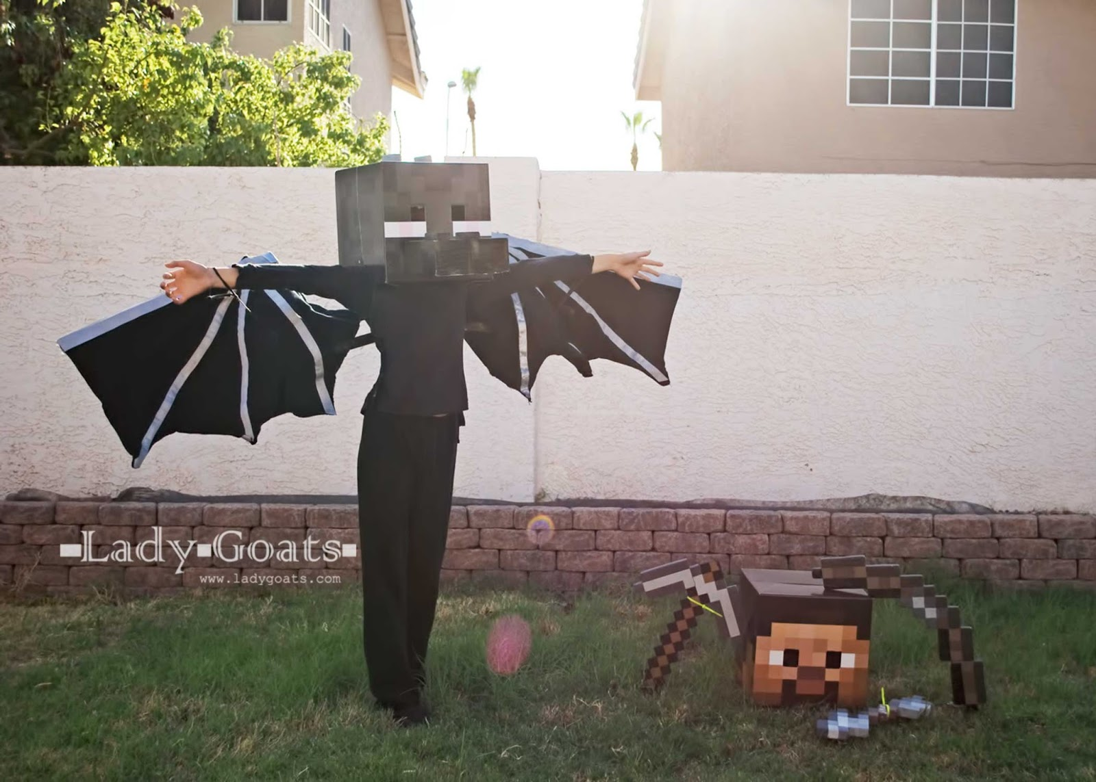 How to Make an Enderdragon Costume & Lady Goats: How to Make an Enderdragon Costume