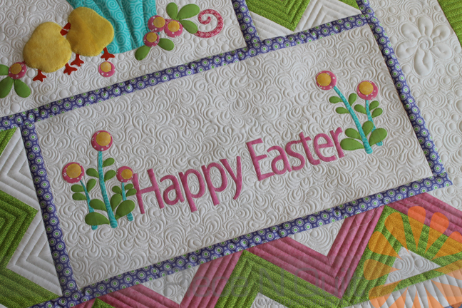 Piece N Quilt Easter Quilt Custom Machine Quilting By Natalia Bonner
