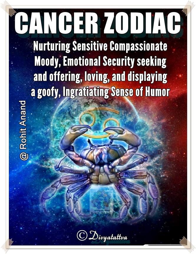 Cancer Zodiac Personality Traits, July Zodiac Sign,  Karka Rashi Love Horoscopes online by Best Astrologer Rohit Anand