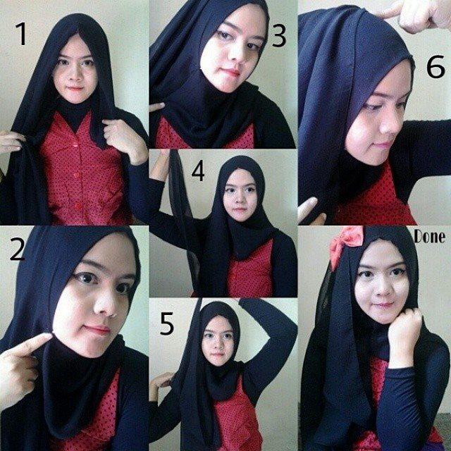 Model dan Cara Menggunakan Hijab Pashmina Simpel Praktis 4