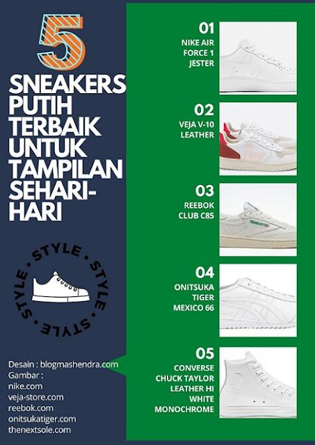 Sneakers Putih Terbaik untuk Tampilan Sehari-hari