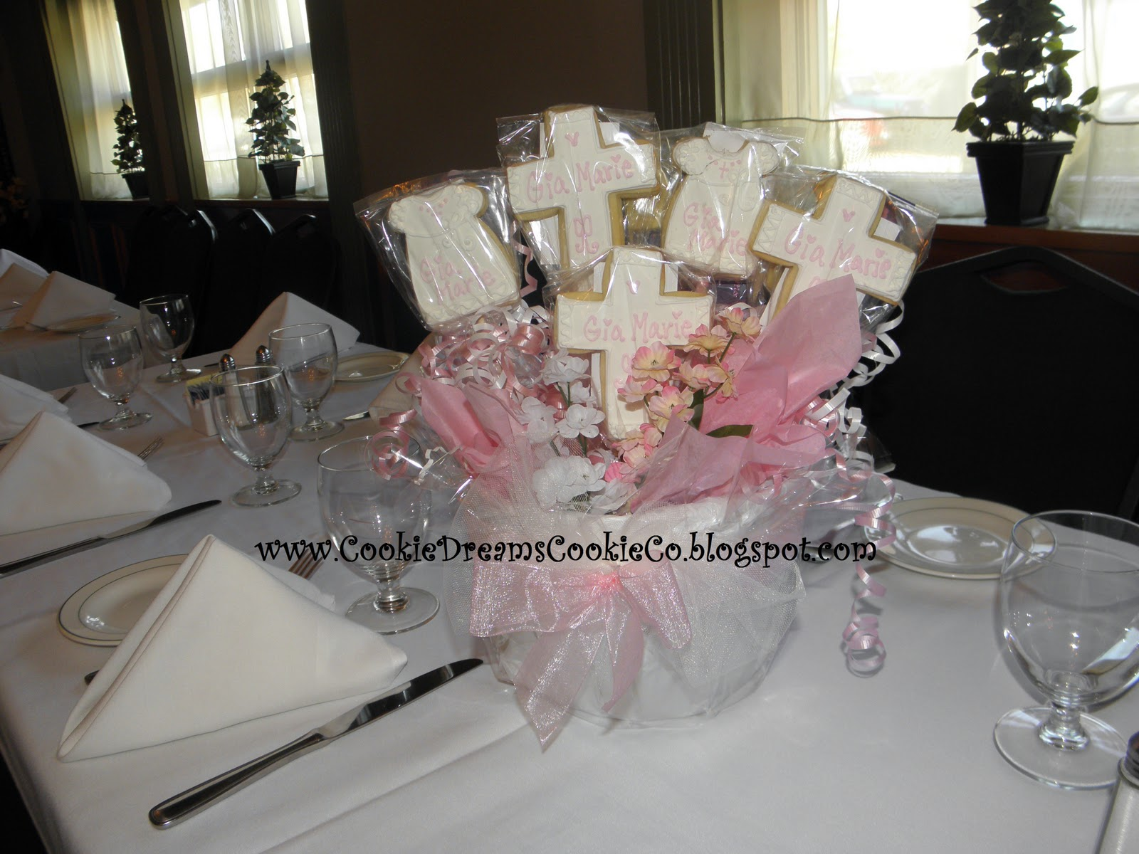 Cookie Dreams Cookie Co Christening Cookie Centerpieces
