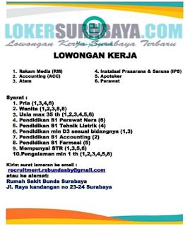 Open Recruitment at Rumah Sakit Bunda Surabaya Terbaru Juni 2019