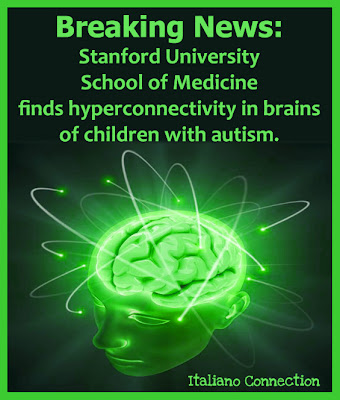 Stanford University School of Medicine finds hyperconnectivity in brains of children with autism.