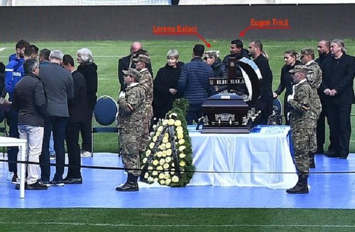 Lorena Balaci, împreună cu fostul ei soţ Eugen Trică la înmormântarea lui Ilie Balaci