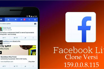 Download Facebook Lite Clone Terbaru Versi 159.0.0.8.115