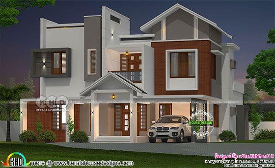 2909 square feet 4 bedroom modern home plan