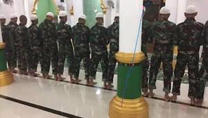 Tanda Bahaya Bila TNI Sudah Terpapar Ikut Barisan Shalat ala Wahabi