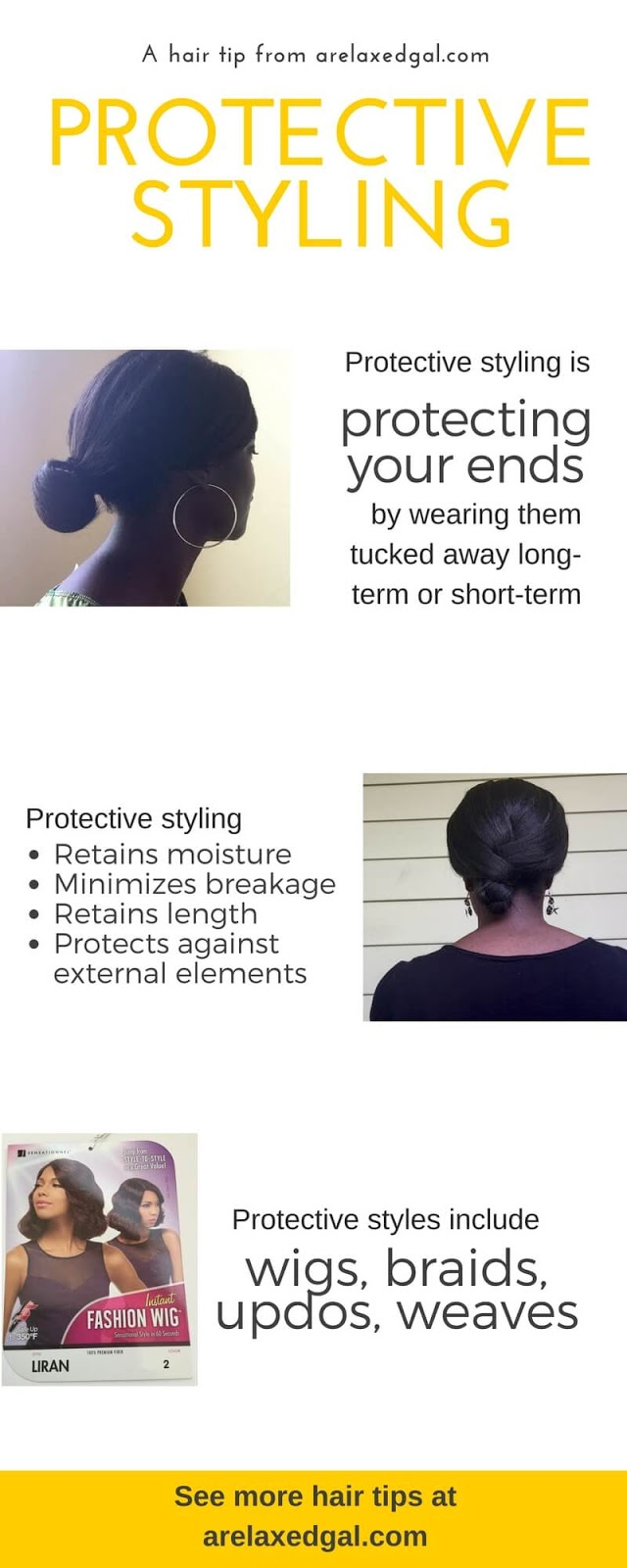 See the benefits of protective styling and what a protective style is. | arelaxedgal.com
