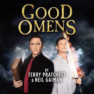Good Omens by Neil Gaiman and Terry Pratchett cover of BBC radio adaptation audiobook