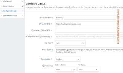 Add Disqus Comment Box in Blogger blog 10