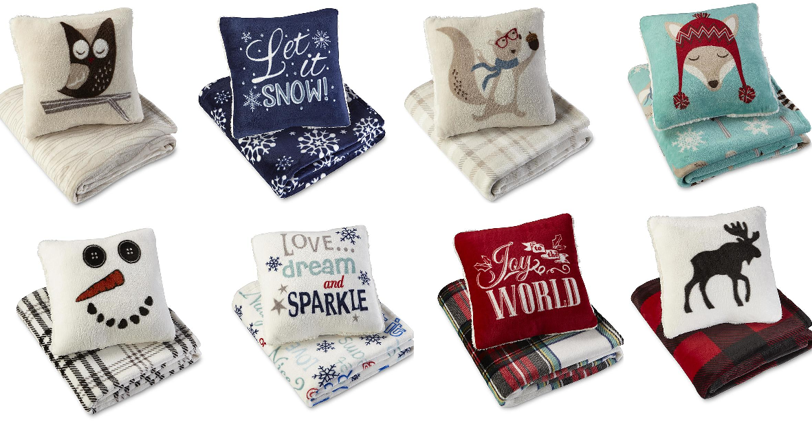 Coupons And Freebies: Cannon Pillow & Plush Throw Blanket Sets $8.99 + Free Store Pickup at KMart