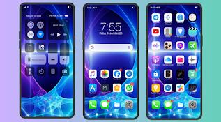 Tema iOS 13 Blue Untuk Oppo ColorOs 3, 4, 5, 7 dan 11 Tembus Aplikasi