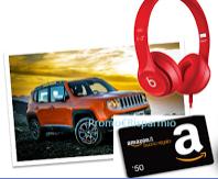 Logo Con AIA vinci buoni Amazon, cuffie Beats e una Jeep Renegade