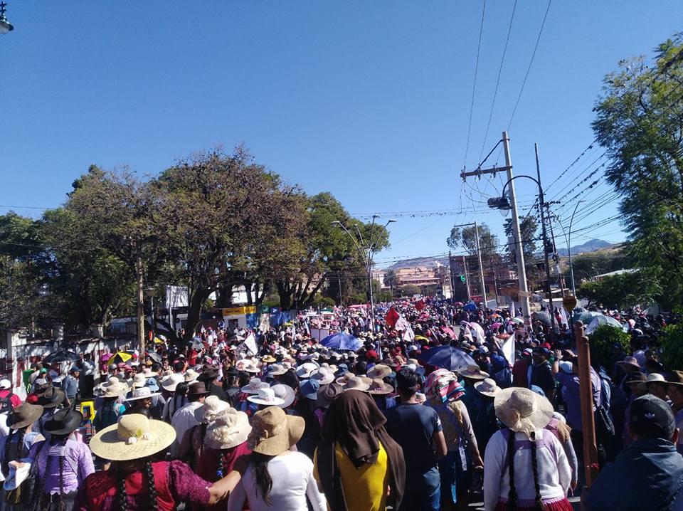 Cabildo en Sucre concentró a más de 50 mil personas / FACEBOOK