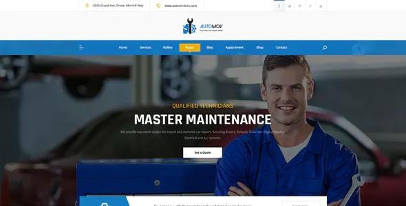 Car Repair & Services Elementor Template Kit