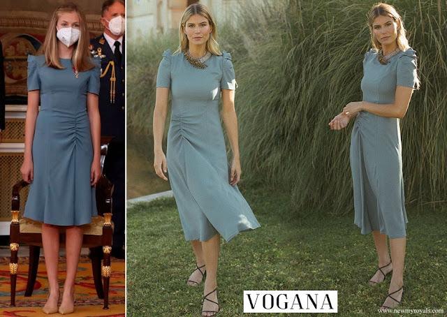 Crown Princess Leonor wore VOGANA Vitoria dress