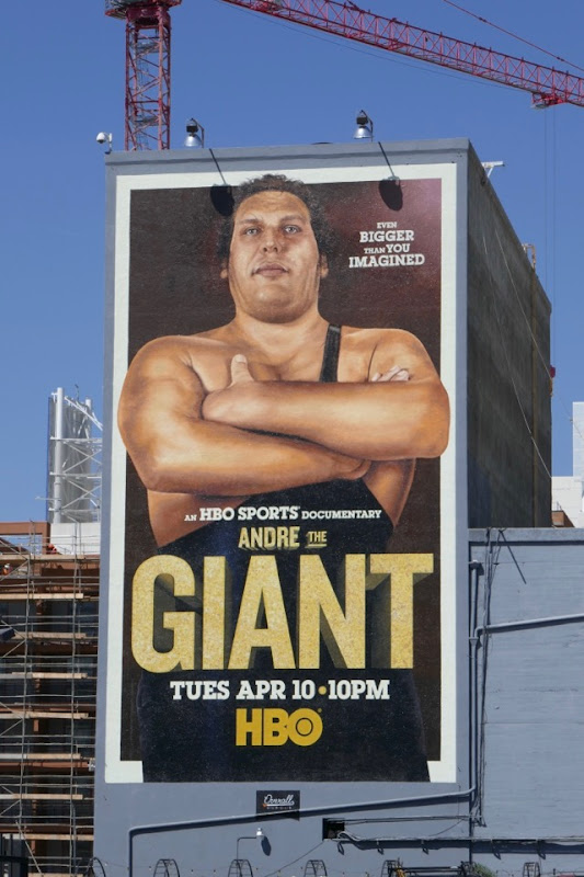 Andre The Giant HBO documentary billboard