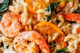 Healthy Recipes | Lemon Orzo Shrimp