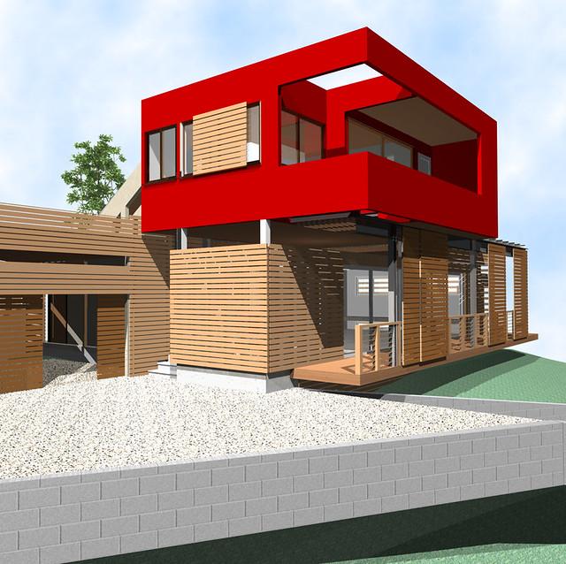 Top Box Type House Design - HouseDesignsme