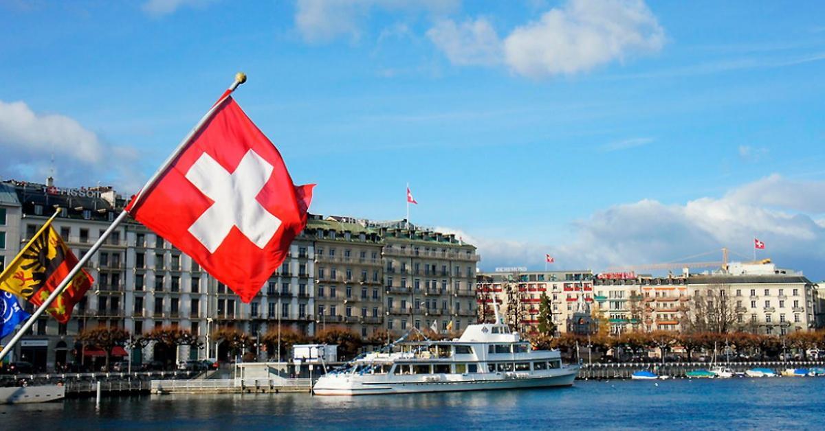 Lake Geneva Switzerland Europe