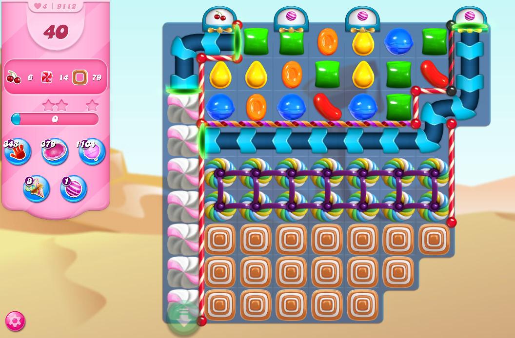Candy Crush Saga level 9112