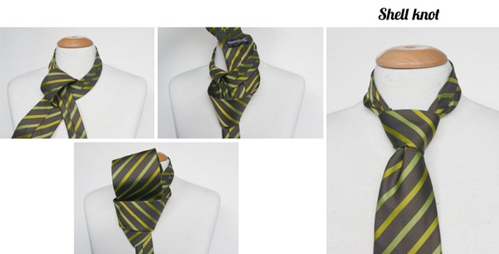 Shell tie knot instructions