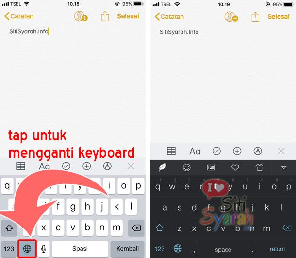 cara ganti keyboard di iOS 11