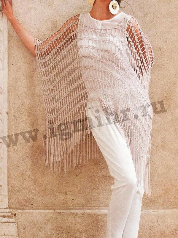 Easy Crochet Poncho For Summer