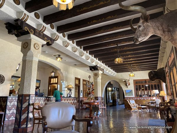 lobby of Hotel Paisano in Marfa, Texas