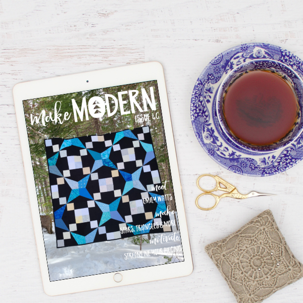 Make Modern magazine issue 40 with my quilt on the cover | DevotedQuilter.com