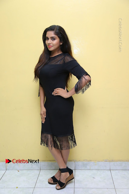 Telugu Actress Karunya Chowdary Latest Stills in Black Short Dress at Edo Prema Lokam Audio Launch .COM 0001.JPG