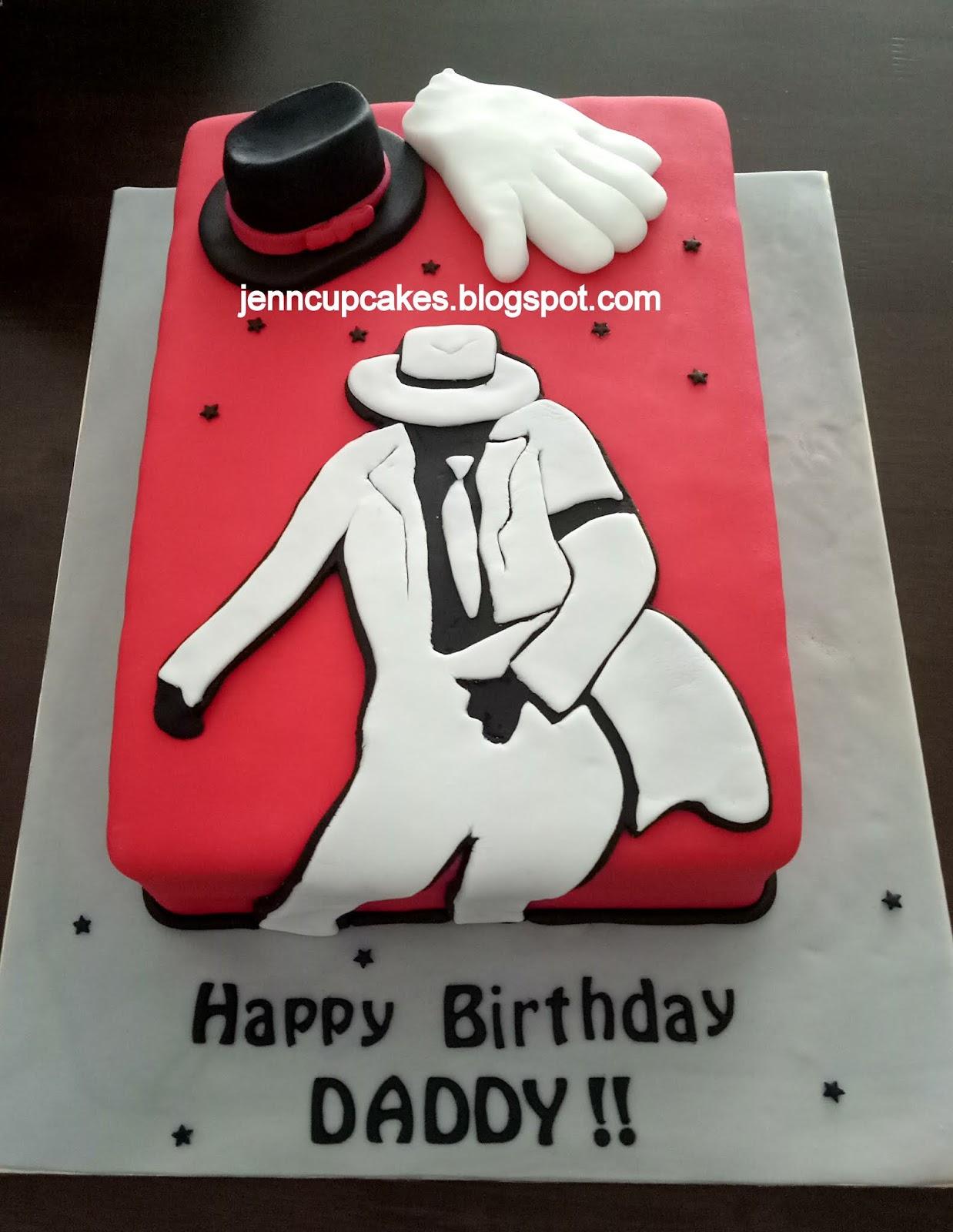 Outstanding Jenn Cupcakes Muffins Michael Jackson Theme Cake Funny Birthday Cards Online Alyptdamsfinfo