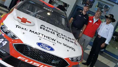 Richard Petty Motorsports and Brian Scott will support giving back to the victims of Hurricane Matthew with a paint scheme donning a phone number to text and donate money to relief efforts. #nascar