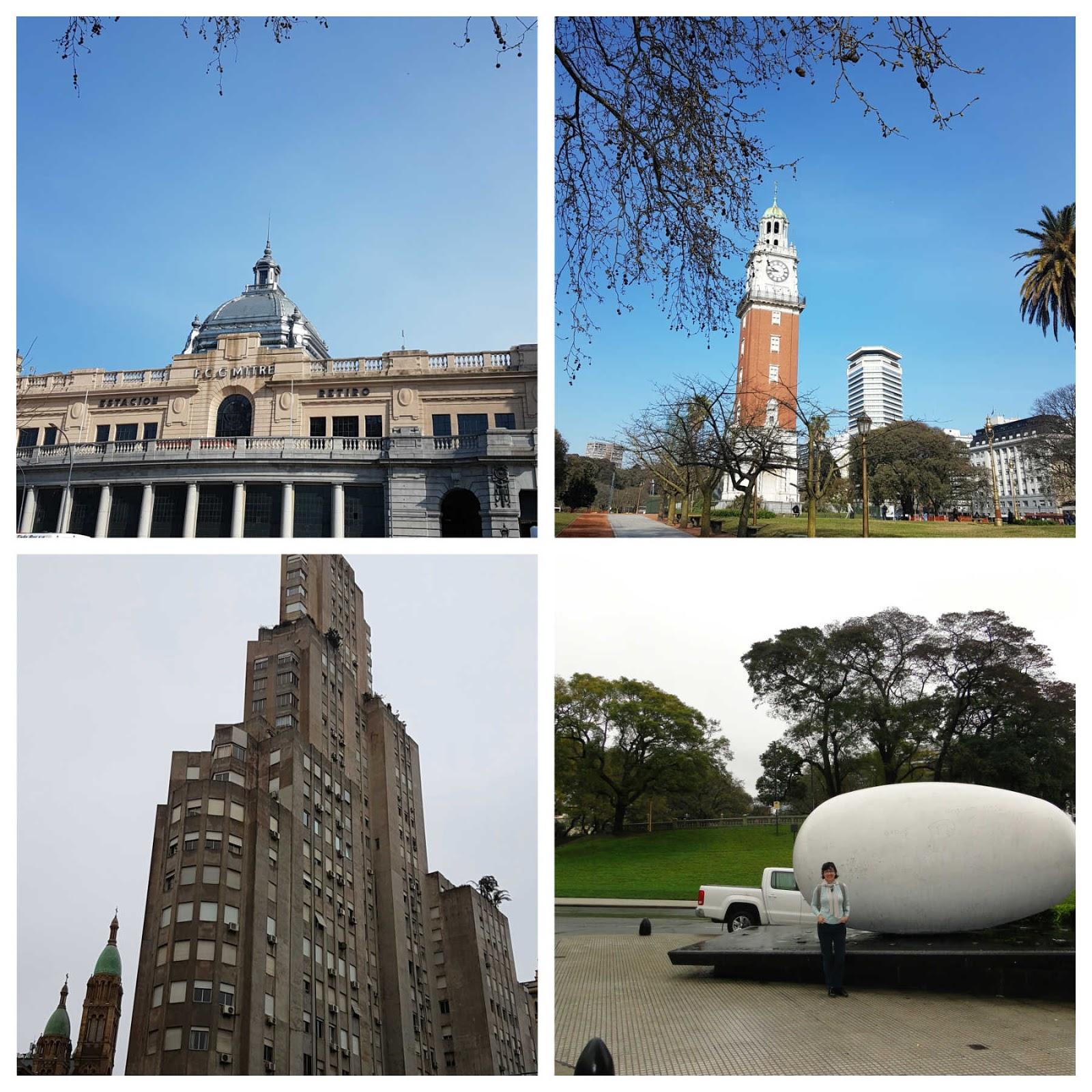 Estação de trem Retiro, Torre dos Ingleses, Kavanagh, Plaza San Martin Buenos Aires.