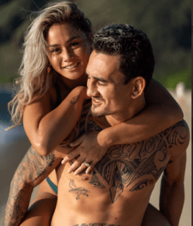 Max Holloway With Current Girlfriend And Fiance Alessa Quizon Png