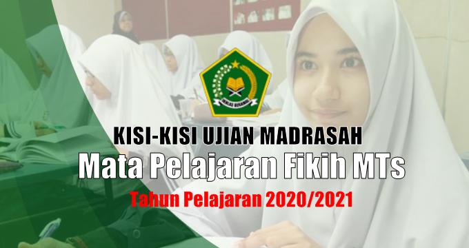 Kisi-Kisi Ujian Madrasah Mapel Fikih MTs