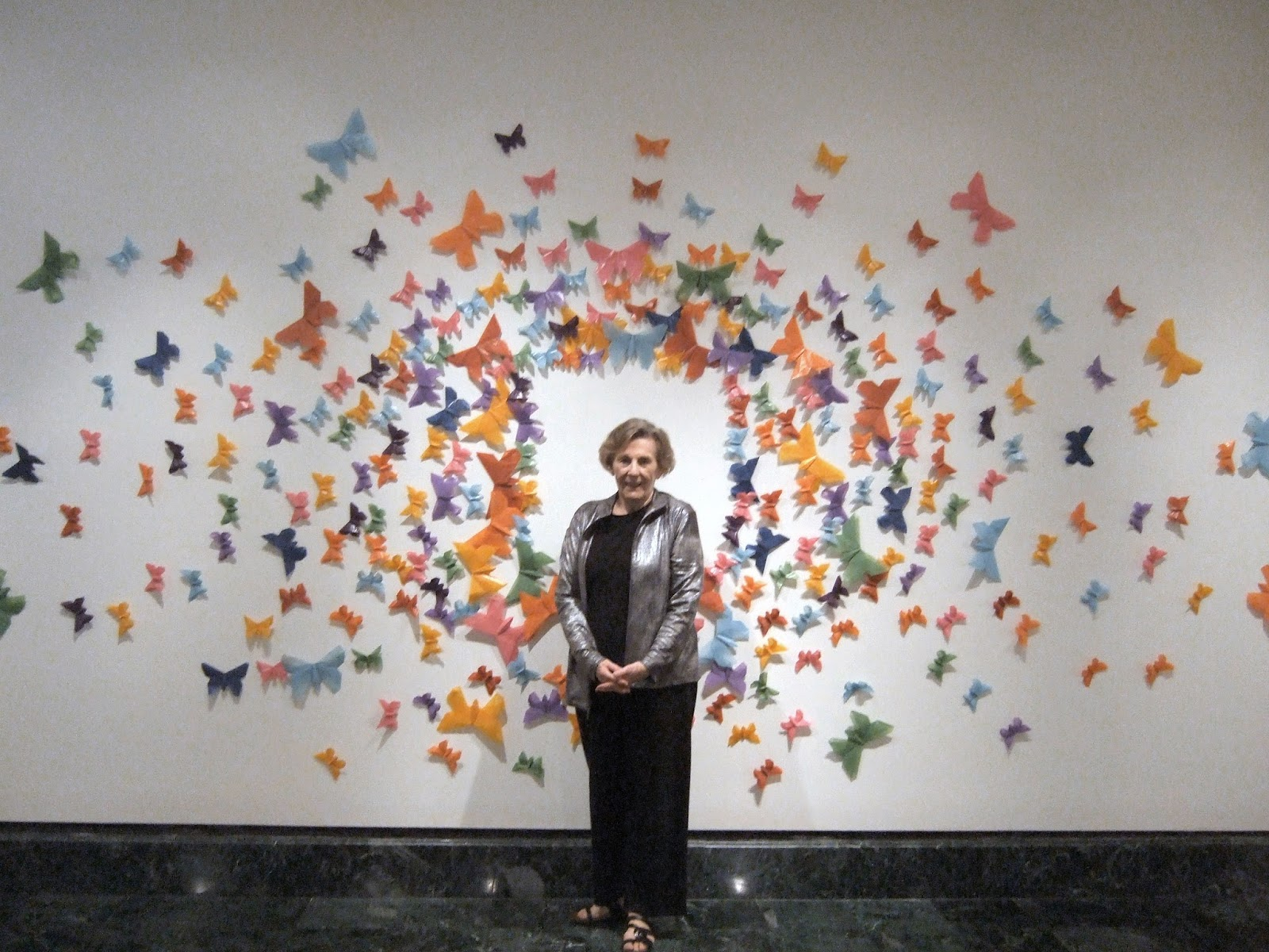 Butterfly Wall Art Origami Butterflies Close Up Becky
