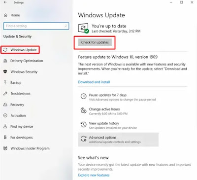 قم بتحديث برامج تشغيل الجهاز من خلال Windows Update