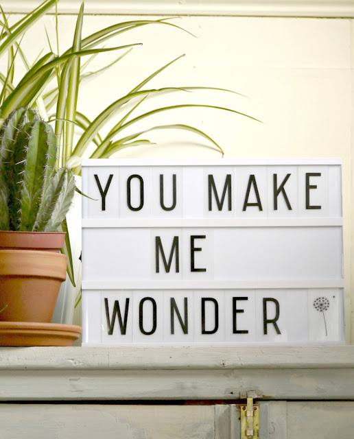 retro light box with personalised text