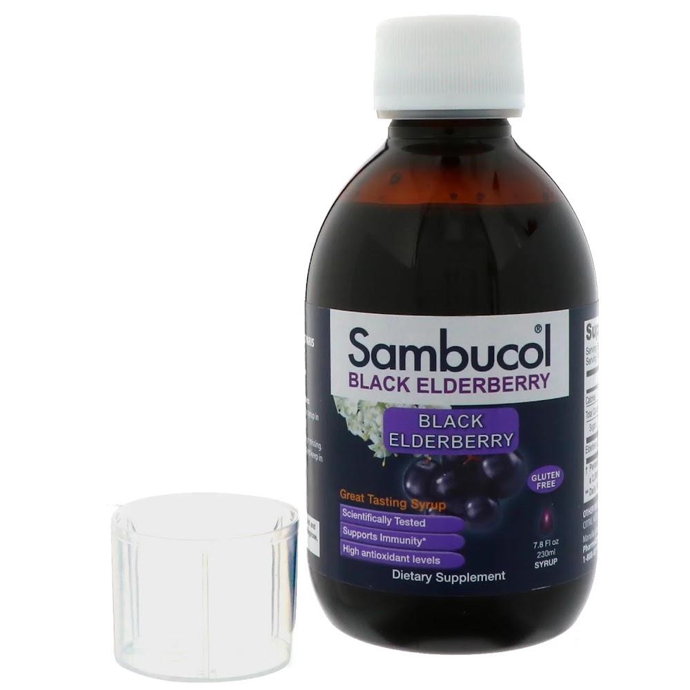 Sambucol, Сироп из черной бузины, оригинальная рецептура, 230 мл
