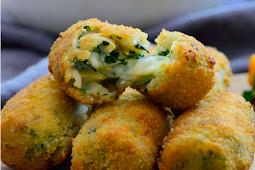 Spanish Spinach Croquettes #healthyfood #dietketo