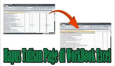 cara menghilangkan tulisan page di excel