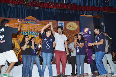 Diganth Manchale at J. N. Medical College Belgaum to attend Trinity Event