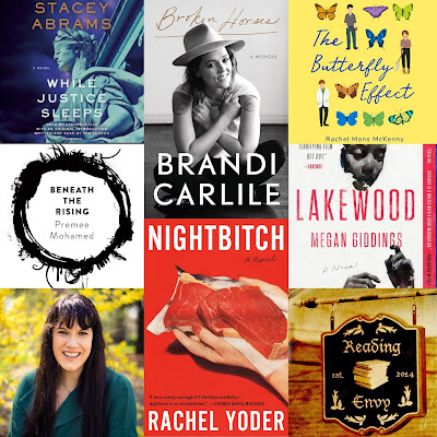 Book covers discussed in the episode, plus Rachel's headshot and book cover.