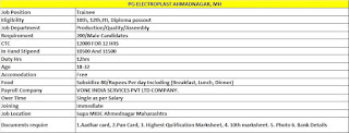 10th, 12th, ITI, Diploma Job Vacancy PG Electroplast Limited in Ahmednagar Maharashtra