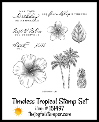 Timeless Tropical stamp set | item #151497