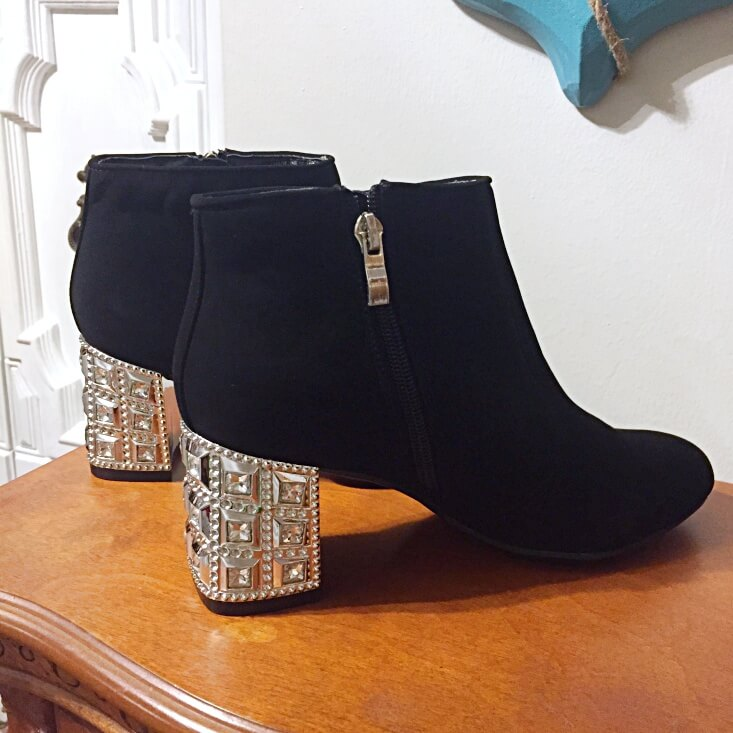 Madeline Stuart studded heel booties