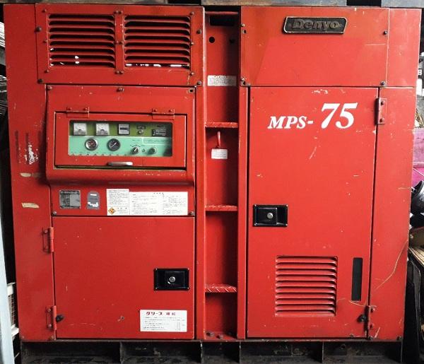 máy nén khí trục vít dùng cho công trình, công trường Denyo 100 Hp